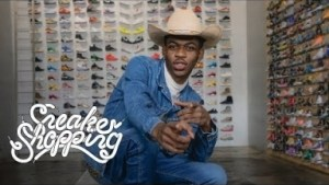 Lil Nas X Goes Sneaker Shopping In Los Angeles